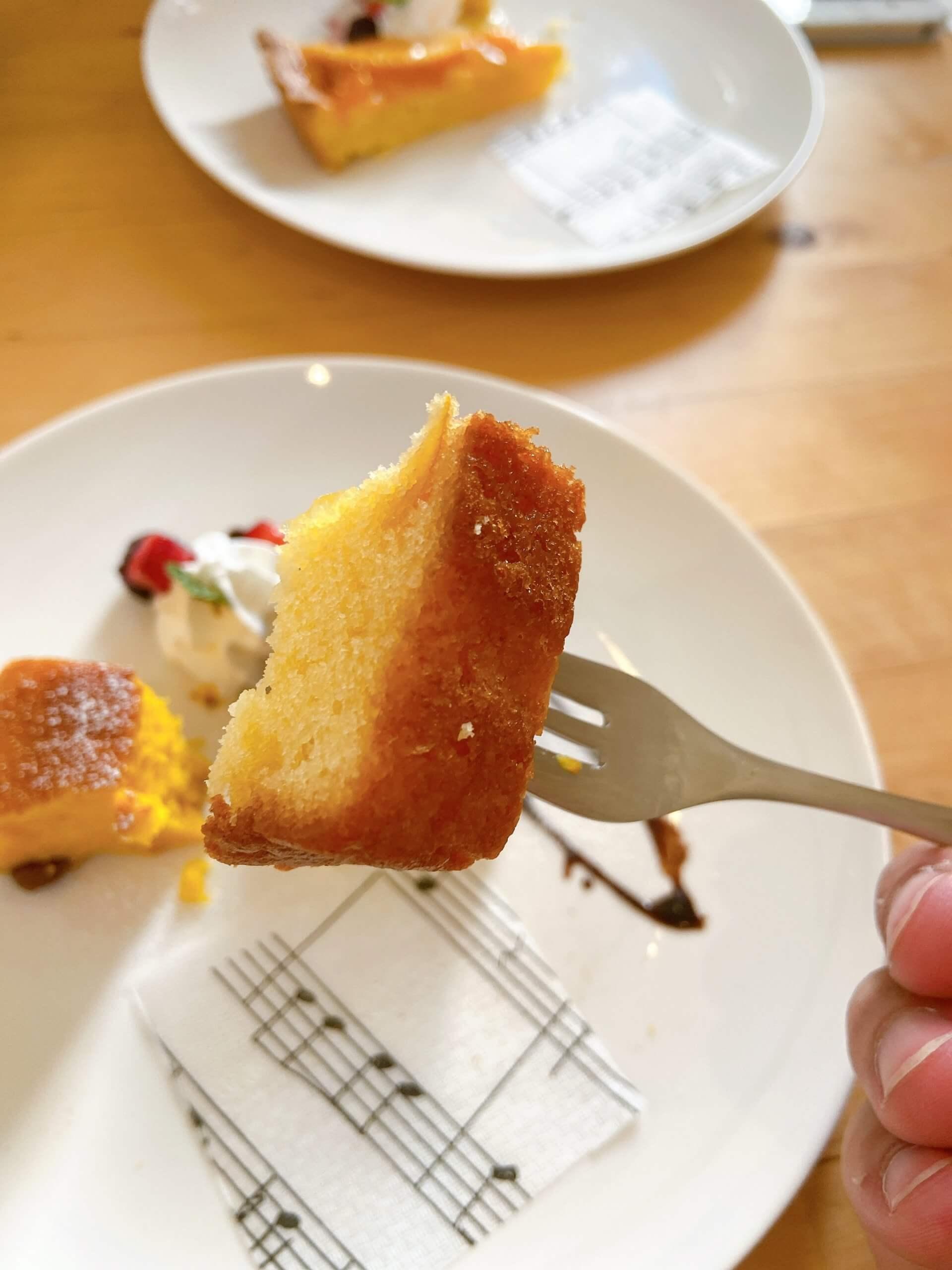 ノラカフェ ケーキ ゆずぱうんど