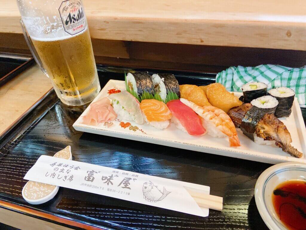 【富味屋 甲南】ふらっと寄りたいあたたかい寿司屋。大将が握る寿司が美味い!